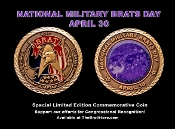 National Military Brats Day Challenge Coin