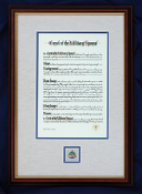Framed Crest of the Military Spouse