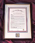 Framed Military Wife Crest